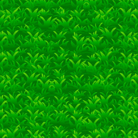 bright green grass seamless pattern, vector background Stock Illustratie