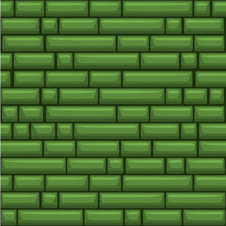 Seamless texture placing green stone wall 矢量图像