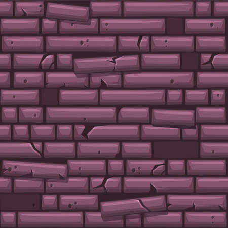 Seamless texture placing purple old stone wall