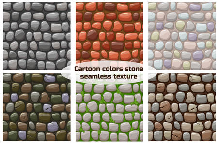 view from above cartoon stone texture, vector seamless background