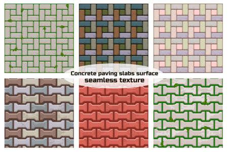 Gekleurd beton H-vormige straatstenen oppervlak. Naadloze textuur