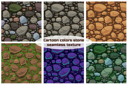 Big set View seamless background texture colors stones. Vector illustration