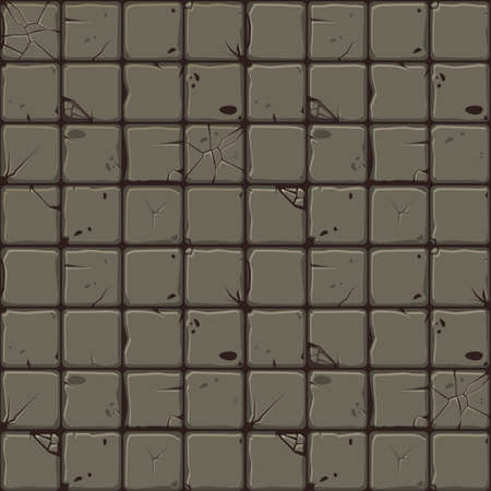 Texture of stone tiles, seamless background stone wall. Ilustration for user interface of the game element. Color 1 of 10