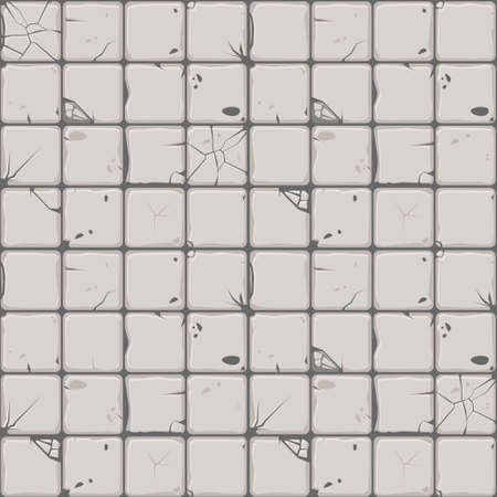 Texture of stone tiles, seamless background stone wall. Ilustration for user interface of the game element. Color 2 of 10