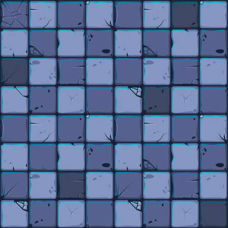 Texture of stone tiles, seamless background stone wall. Ilustration for user interface of the game element. Color 3 of 10