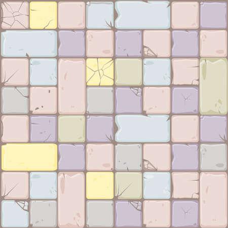 Textur von Pastellfarben Steinfliesen, nahtlose Hintergrundsteinwand. Illustration für die Benutzeroberfläche des Spielelements. Farbe 7 von 10