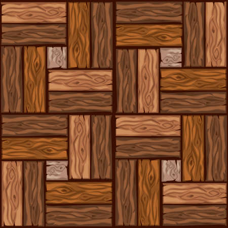 Cartoon wood floor tiles pattern. Seamless texture wooden parquet board. Vector illustration for user interface of the game element. Color 2
