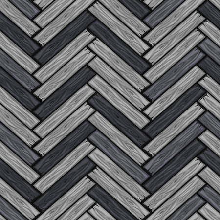 Cartoonwood herringbone tiles pattern. Seamless texture grey wooden parquet board. Vector illustration for user interface of the game element. Color 9 Illustration