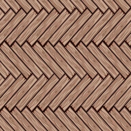 Cartoon Holzboden Fliesen Muster. Nahtlose Textur Holz Fischgrät-Parkettbrett. Vektorillustration für die Benutzeroberfläche des Spielelements. Farbe 3 Vektorgrafik