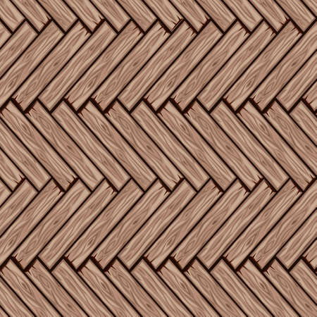 Cartoon wood floor tiles pattern. Seamless texture wooden herringbone parquet board. Vector illustration for user interface of the game element. Color 3