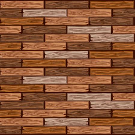Cartoon Holzboden Fliesen Muster. Nahtlose Textur Holzparkettbrett. Vektorillustration für die Benutzeroberfläche des Spielelements. Farbe 4
