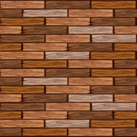 Cartoon wood floor tiles pattern. Seamless texture wooden parquet board. Vector illustration for user interface of the game element. Color 4