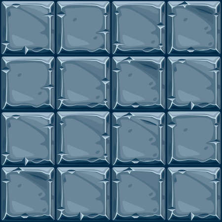 Seamless texture of square stone, background stone wall tiles. Vector illustration for user interface of the game element