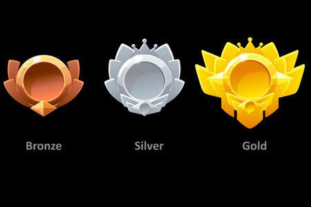 Awards medals gold, silver and bronze for Gui Game.
