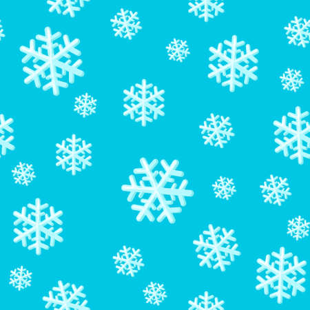 Christmas seamless pattern with snowflakes. Snowflake pattern scrapbooking paper.