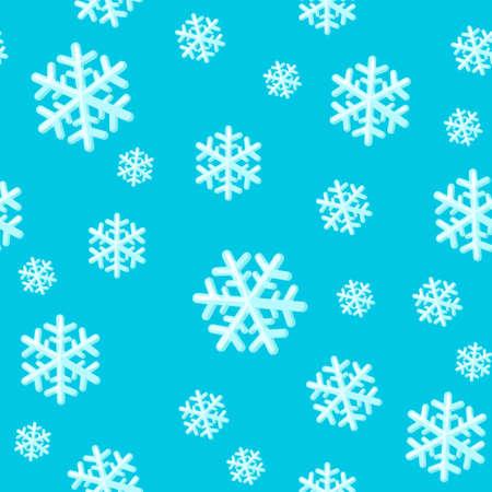 Christmas seamless pattern with snowflakes. Snowflake pattern scrapbooking paper. 版權商用圖片 - 133048895