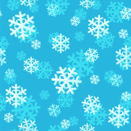 Christmas seamless pattern with snowflakes. Snowflake pattern for packaging paper, prints, scrapbooking. Snow flakes backdrop.