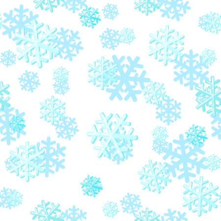 Christmas seamless pattern with snowflakes. Can be used for textile, parer, scrapbooking, wrapping, web and print design. Vector illustration