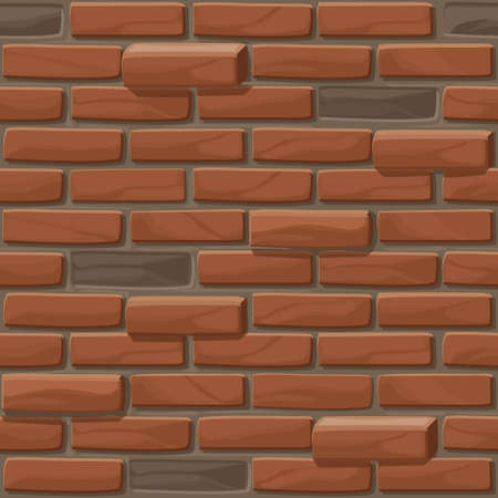 Old Brick wall texture seamless. Vector illustration stones wall Ilustrace