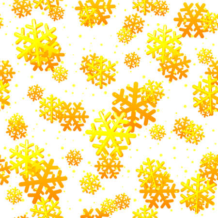 Christmas seamless pattern with gold snowflakes. Snowflake pattern for packaging paper, prints, scrapbooking. 版權商用圖片 - 133949553