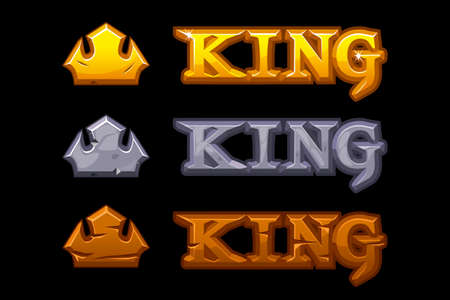 Three crown icons in golden stone and wood textures.