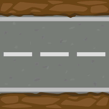 Seamless pattern background of asphalt road and ground. 向量圖像