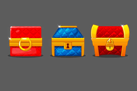 A set of isolated soft chests of different shapes.