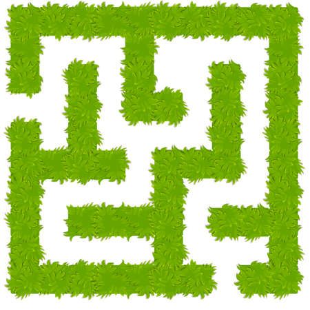 Education logic game bush labyrinth for kids. 向量圖像