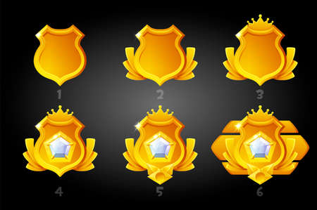 Improving the gold rating shields for the game.