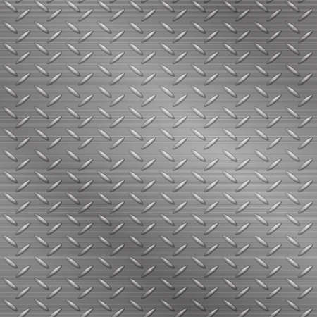 Seamless metal tracery bright gray textured background. Vector illustration of a metallic pattern for the user interface. 矢量图像