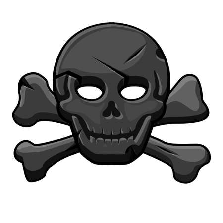 Pirate black mark, skull with cross bones for the game.