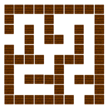 Labyrinth Education logic game for children, soil and beds.