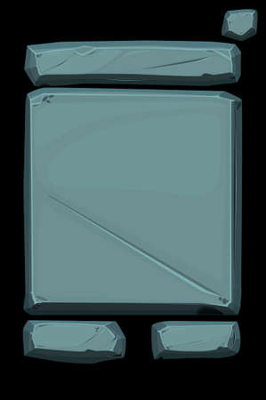 Stone banner panel, old gray user interface.