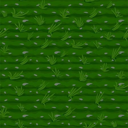 Grass seamless pattern, green field background for wallpaper. Vectores