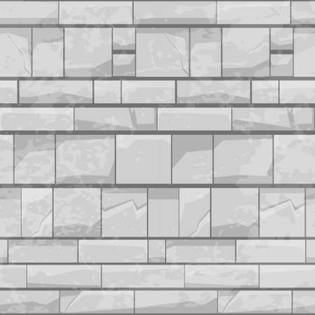 Brick stone wall seamless pattern, gray texture for wallpaper.