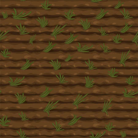 Seamless texture field with green grass, texture ground for wallpaper. Vectores