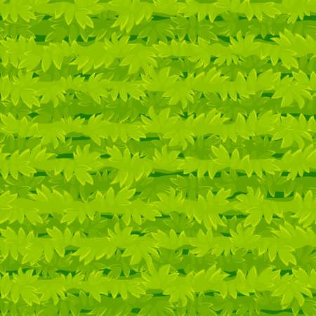 Seamless texture cartoon grass, green plants pattern for wallpaper. Vectores