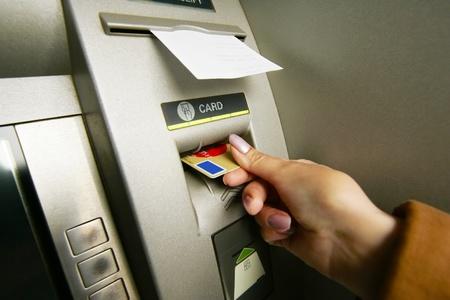 bank card: ATM machine Stock Photo