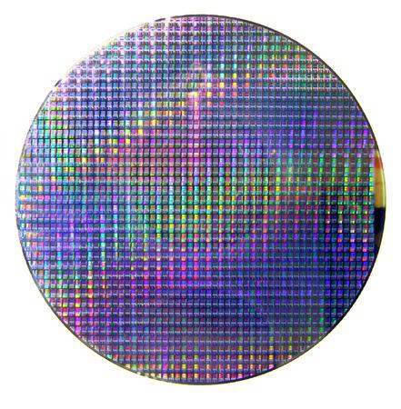 규소: 컴퓨터 실리콘 웨이퍼 스톡 사진