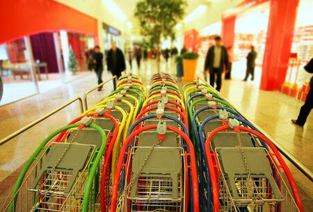 stackable: stackable shopping carts Stock Photo