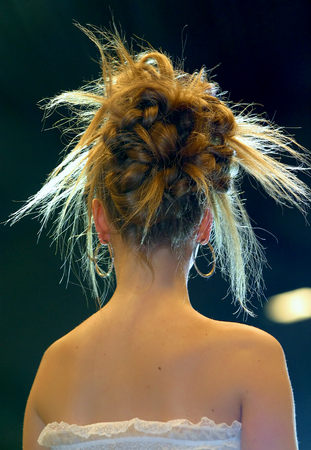 Woman hairstyle photo