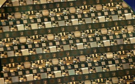 silicio: Oblea de silicio Foto de archivo