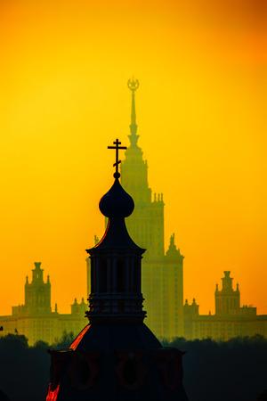 andrews: St. Andrews Monastery (Moscow) Stock Photo