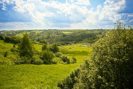 meadow, sky, landscapes, tree Banco de Imagens