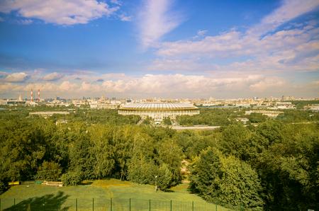 side lighting: Panorama of Moscow
