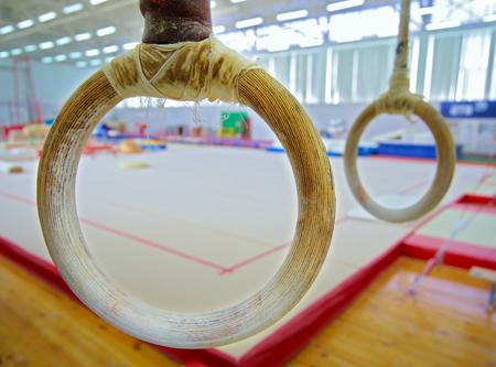 Gymnastic rings Banco de Imagens