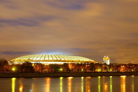 Moscow night, the stadium Luzhniki