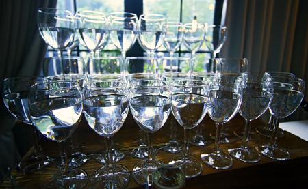 wine glasses Banco de Imagens