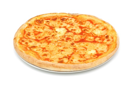 cheese pizza: pizza mozzarella Stock Photo
