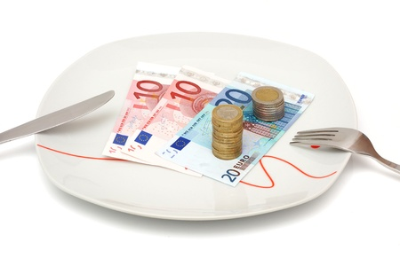 expensive food: expensive food or no money for restaurant